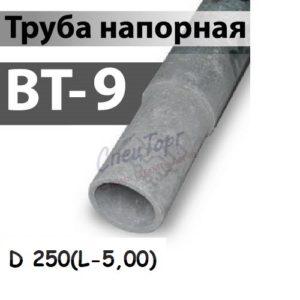 Труба напорная (ВТ-9) Ø 250 (L-5,00)