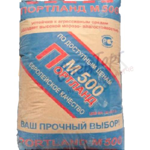 Цемент Липецкцемент М500 Д20 мешок 50кг